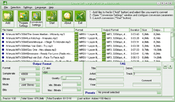 4Musics MP3 to AMR Converter Screenshot 1