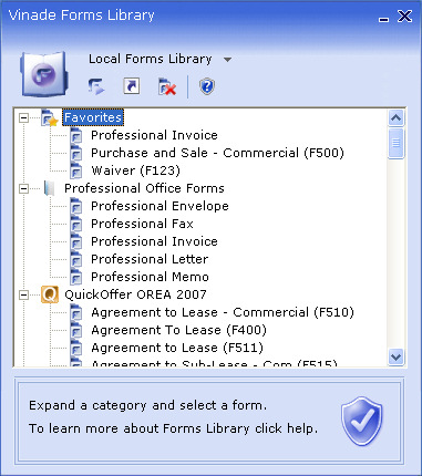 Forms Reader Screenshot