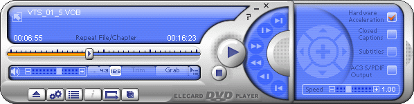 Elecard DVD Player Screenshot 1