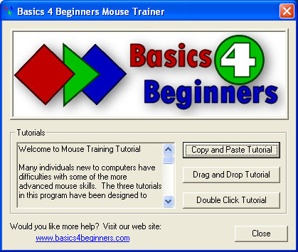 Blue Mouse Tutorial Screenshot 1