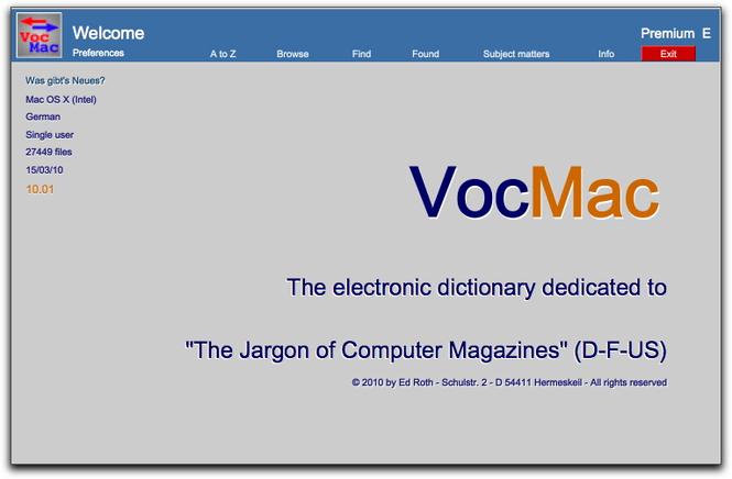 VocMac 2010 (WIN) Screenshot 1