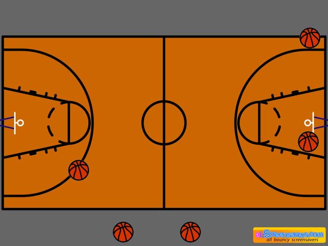 Basketball screensaver Screenshot 1