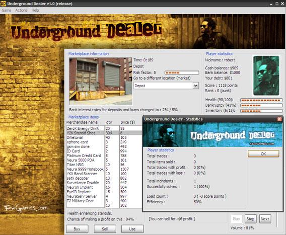 Underground Dealer Screenshot