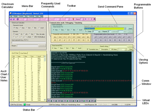 232Analyzer Screenshot