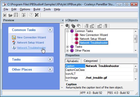 Coalesys PanelBar for JSP Screenshot 1
