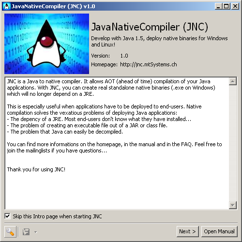 JNC - JavaNativeCompiler Screenshot 1