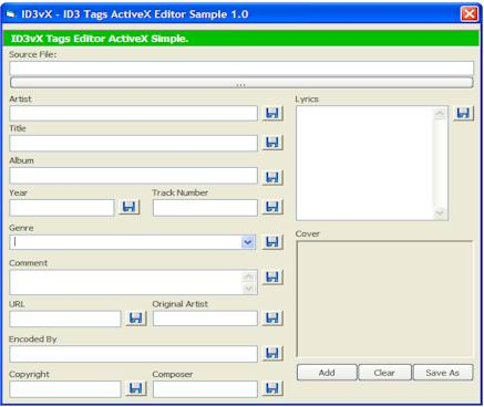 ID3 Tags Editor ActiveX Screenshot