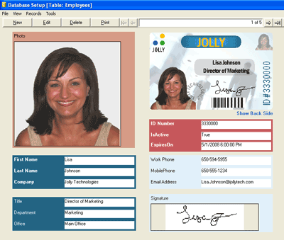 IDFlow ID Badge Software Screenshot