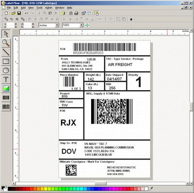 LabelFlow Label Maker Software Screenshot