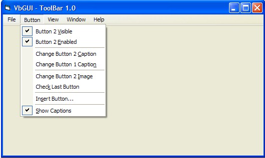 VB Menu ActiveX (OCX) Screenshot 1