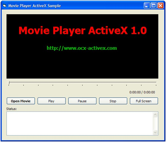Movie Player ActiveX (OCX) Screenshot