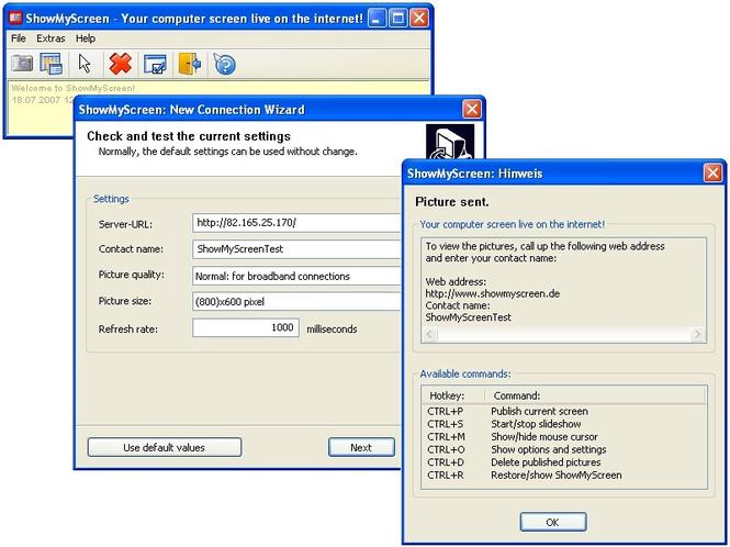 ShowMyScreen Screenshot