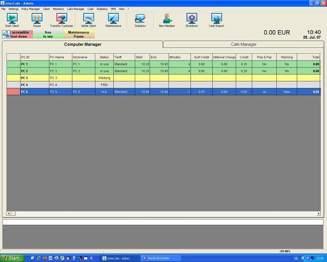 blue image InterCafe 2004 Screenshot 1