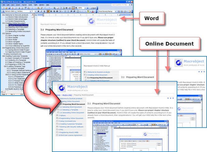 Macrobject Word-2-Web 2007 Professional Screenshot