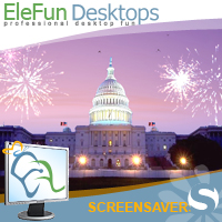 Fireworks on Capitol - Animated Screensaver Screenshot
