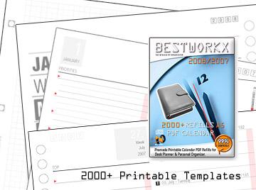 2000+ MOOD Calendar A5 Refills 2007-2008 Screenshot