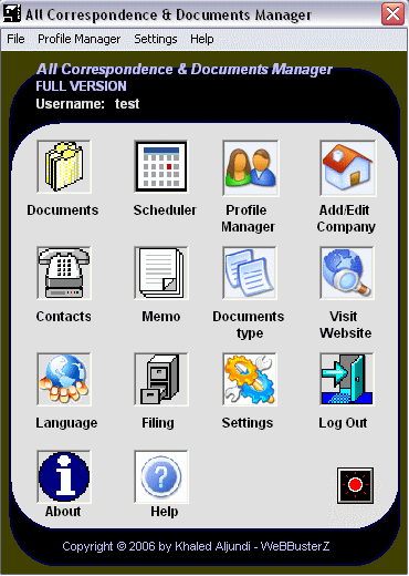 All Correspondence and Documents Manager Screenshot