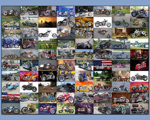Chopper motorcycles widescr screensaver Screenshot