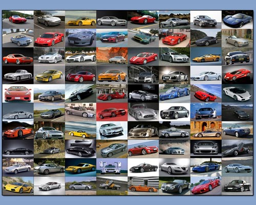Supersport cars widescreen screensaver Screenshot