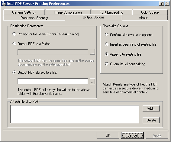 Real PDF Server Screenshot
