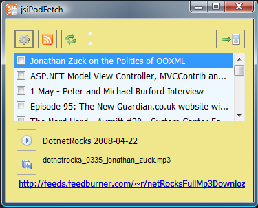 jsiPodFetch Screenshot