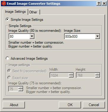 Email Image Converter Screenshot