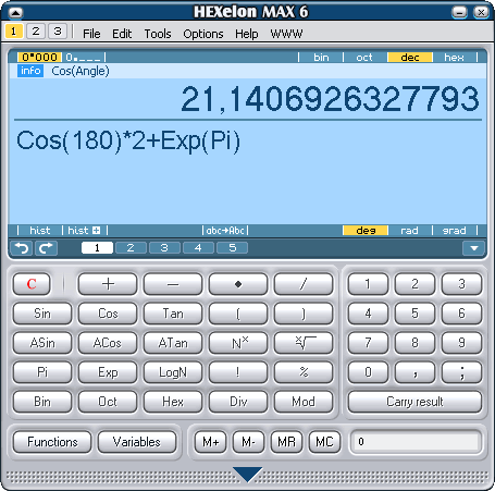 HEXelon MAX calculator Screenshot 1