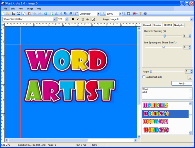 Word Artist Screenshot