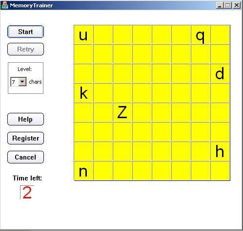 Memory Training Game Screenshot