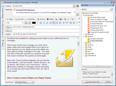 Cruise Control - Rapid Mail Responder Screenshot