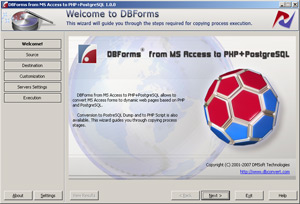 DBForms from MSAccess to PHP+PostgreSQL Screenshot