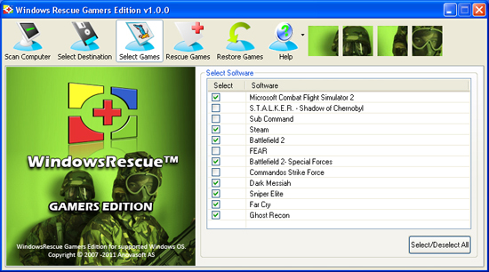 WindowsRescue Gamers Edition Screenshot