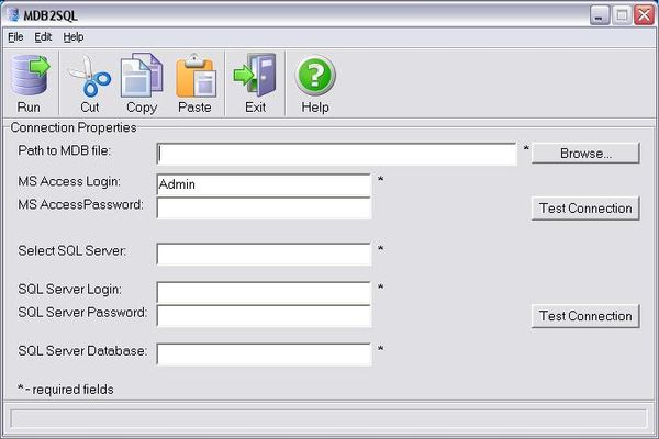 MDB2SQL Data Migration Screenshot 1