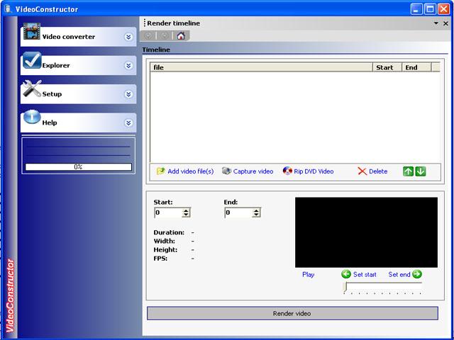 FLV VideoConstructor PRO Screenshot