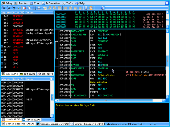 Syser Debugger Screenshot 1