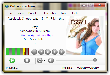 Online Radio Tuner Screenshot 1