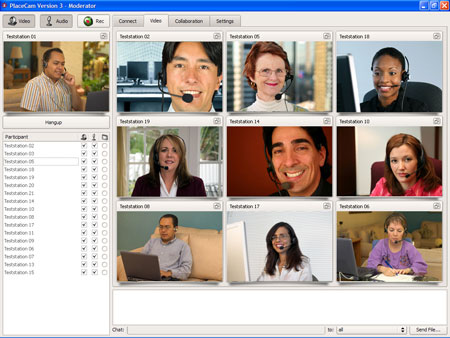 PlaceCam Video Conferencing  eLearning Screenshot