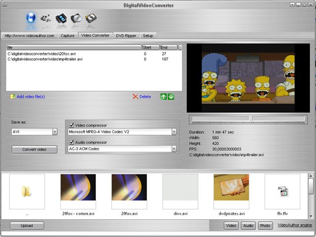 DigitalVideo Converter Screenshot