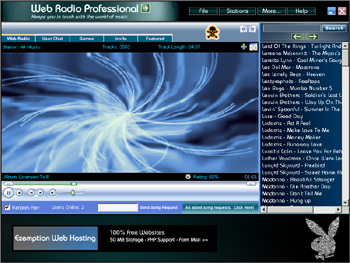 Web Radio Professional Screenshot