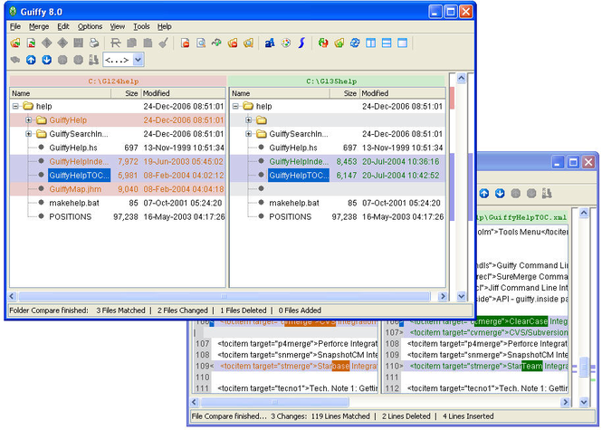 Guiffy SurwMerge (Linux) Screenshot