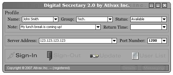 Digital Secretary Screenshot