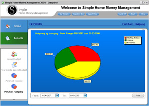 Simple Home Money Management 2008 Screenshot 1