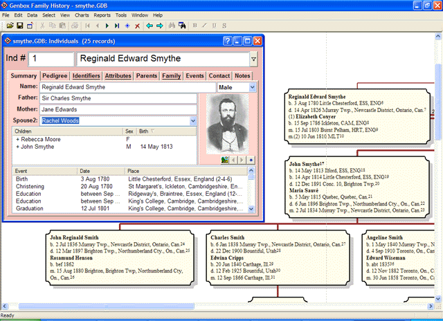Genbox Family History Screenshot