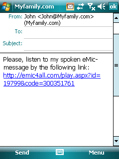 eMic Communicator Mobile Screenshot