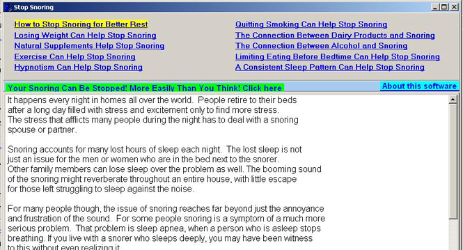 Stop Snoring Screenshot
