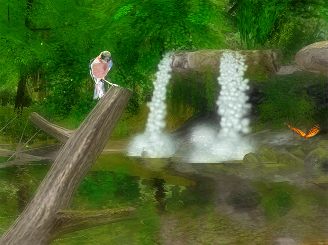 Forest Waterfall 3D Screensaver Screenshot