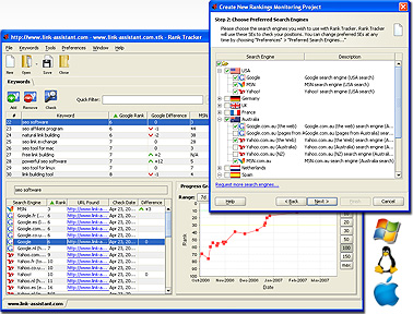 Rank Tracker SEO Software (Enterprise Edition) Screenshot 1