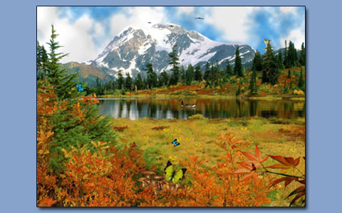 Mountain lake screensaver Screenshot 1