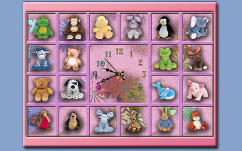 Pink clock screensaver Screenshot 1