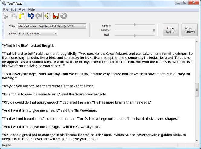 TextToWav Screenshot 1